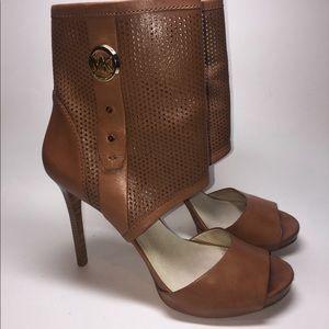 MK Perforated Open Bootie Heels